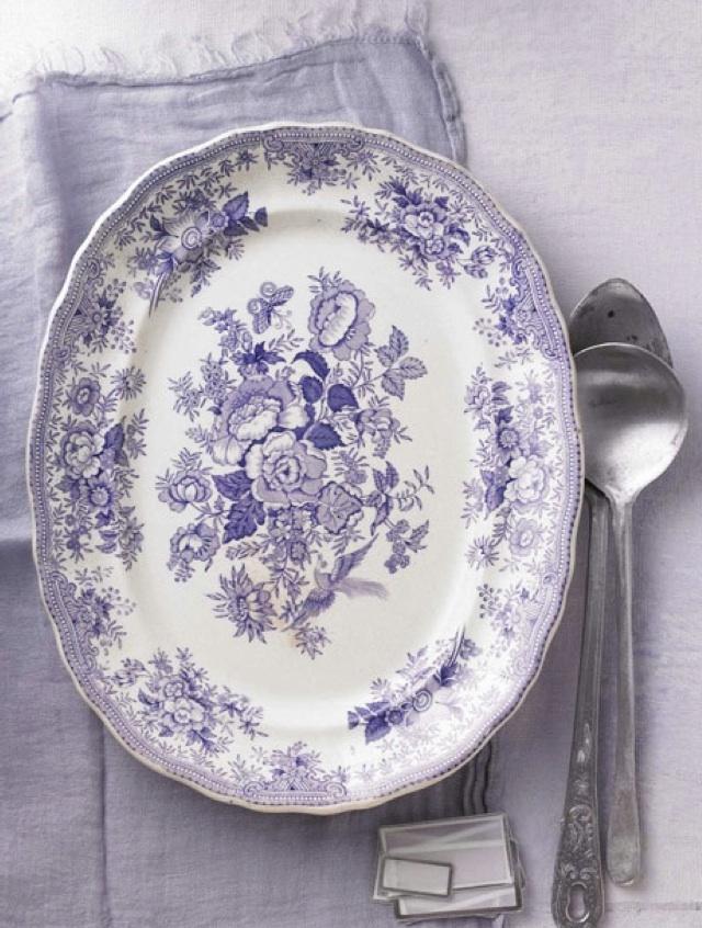 lavender purple toile transferware - photo #24