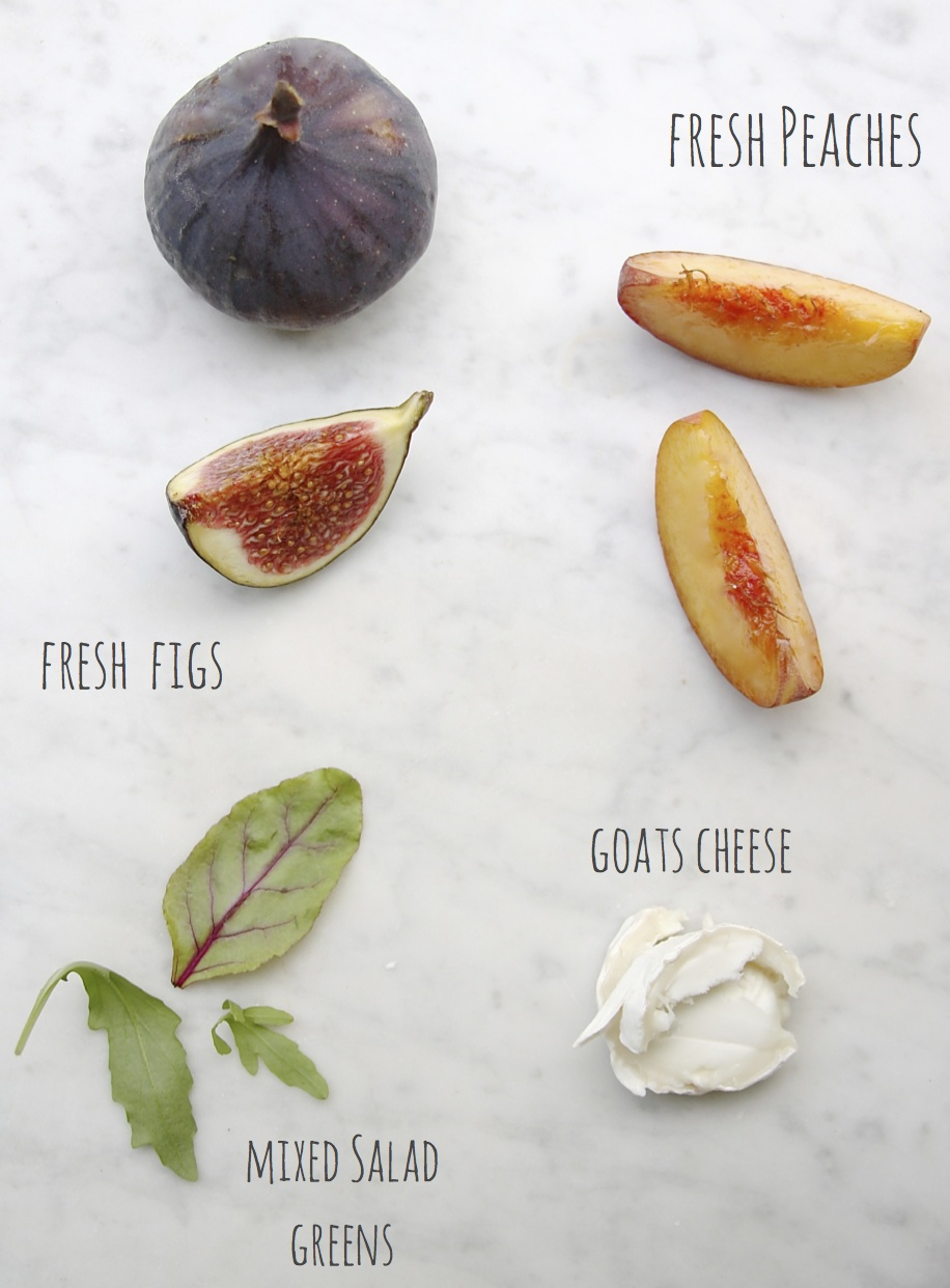 is all about this fruity salad starring fresh figs peaches and goats ...