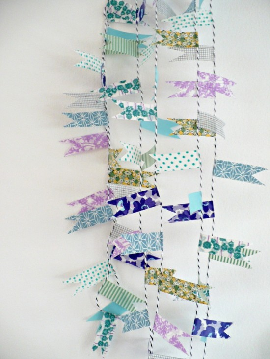 Washi tape bunting garland
