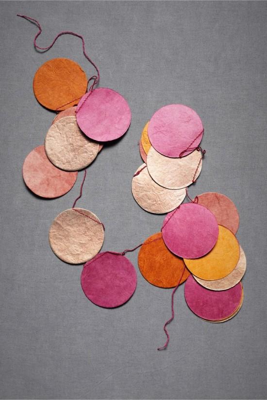 circle bunting garland