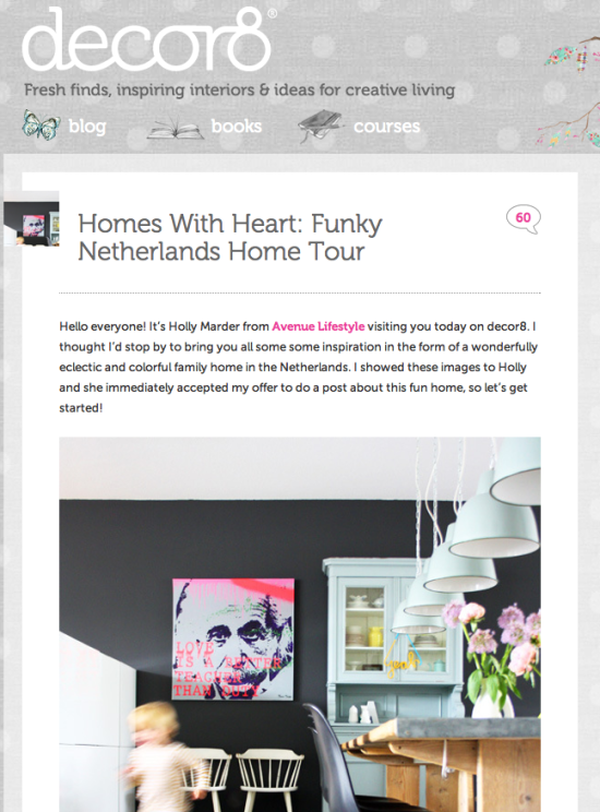 Funky Netherlands Home Tour by Holly Marder for Decor8
