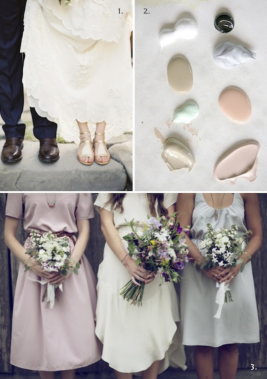Moodboard by Holly Marder/Avenue Lifestyle / Image credits: 1. Kurt Boomer via Plum Tree Weddings / 2. Amateur Couture via Indulgy / 3. D'Art Photography
