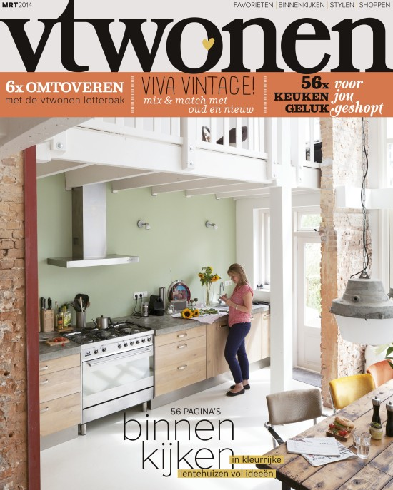 vtwonen March 2014 / Cover image: Photography Jansje Klazinga; Styling Holly Marder/Avenue LIfestyle