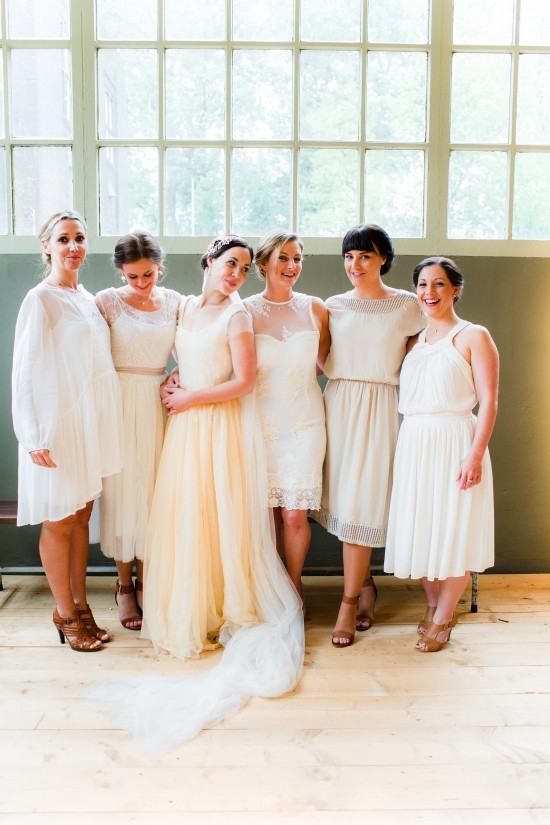 Wedding Files: Part II – Bridesmaids, Table Settings and a Personal Story / Photography by Anouschka Rokebrand / Styling by Avenue Lifestyle / Wedding gown by Armeni / Veil by SIBO Designs / Headpiece by Portobello Jewelry / Venue: Lijm en Cultuur, Delft, The Netherlands