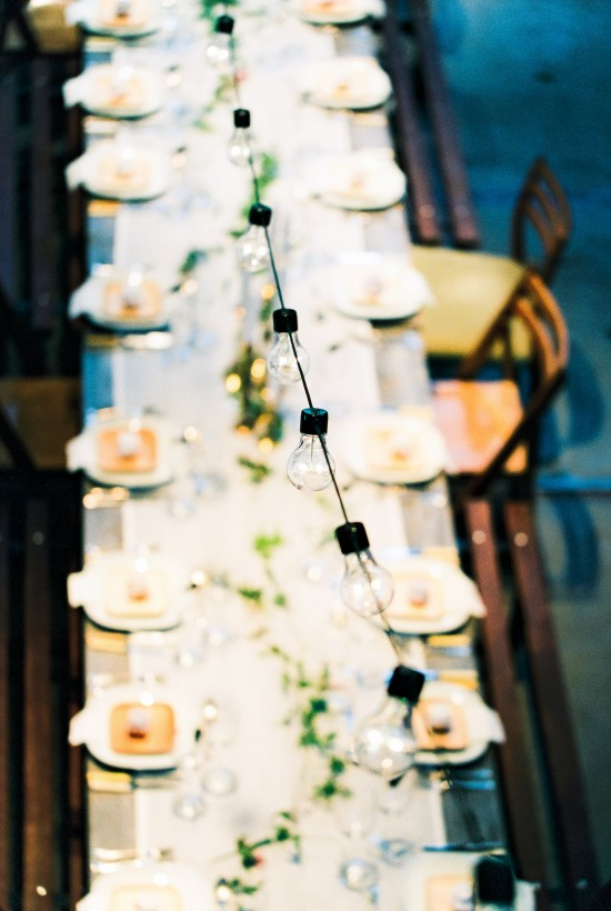 Wedding Files: Part V - Our Wedding Captured on Film / Photography by Anouschka Rokebrand / Flatware by Helene Millot Furnishings / Plates by VerTerra Dinnerware / String lights by Allekabels / Styling by Avenue Lifestyle / Assistant styling by Style Serendipity & NU interieur|ontwerp