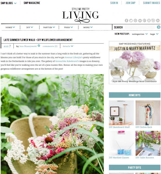 Wildflower Inspiration for Style Me Pretty Living by Avenue Lifestyle & Anouschka Rokebrand
