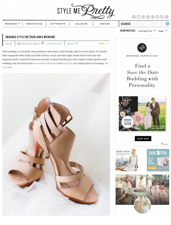 Fetured on Style Me Pretty: The wedding of Holly of Avenue Lifestyle