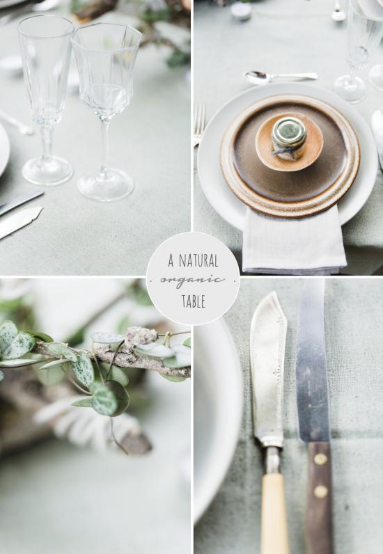 natural, organic table