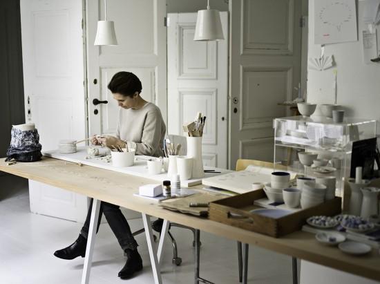 portæt av keramiker Anne Black