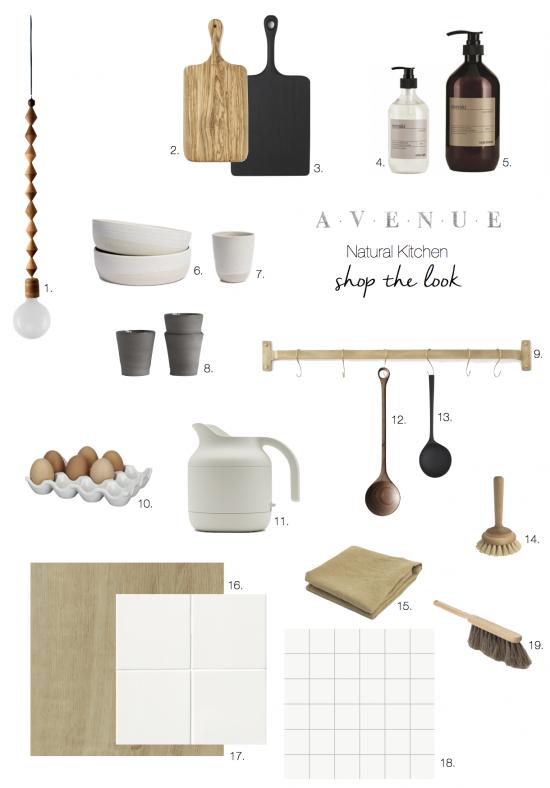 Shop the look_natural kitchen_avenue copy